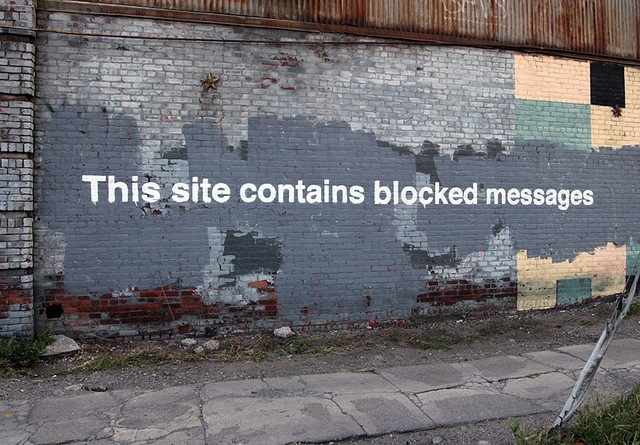 Banksy - This Site Contains Blocked Messages