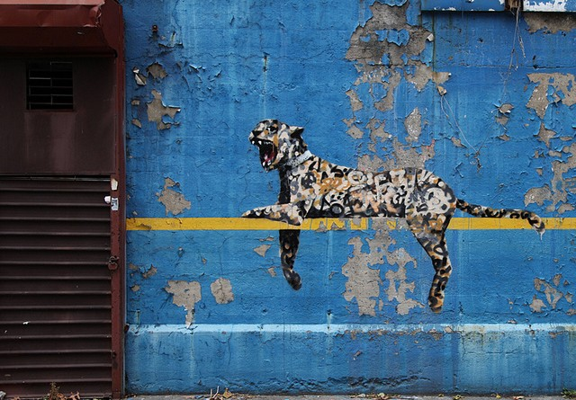 Banksy New York Leopard