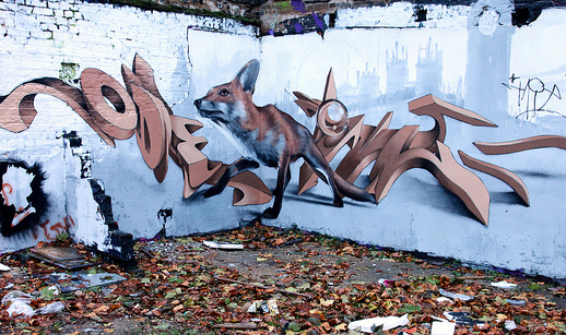 Photo of fox graffiti