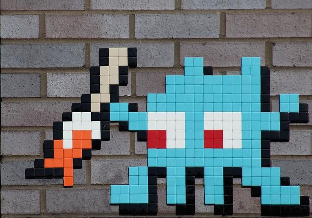 Photo of invader Street Art