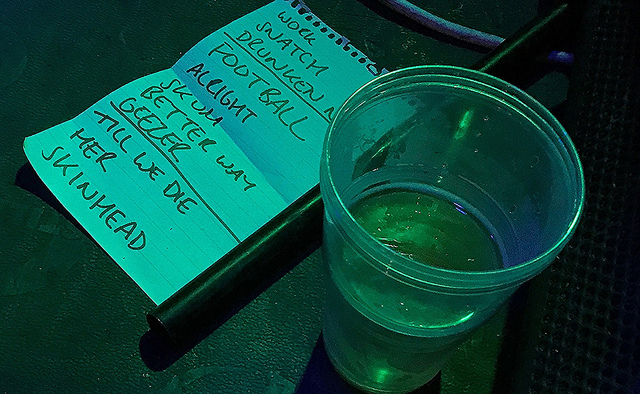 Set list and beer
