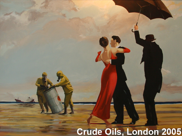 Banksy Crude Oils exhibition, London 2005