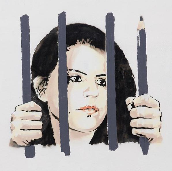 Banksy - Free Zehra Dogan
