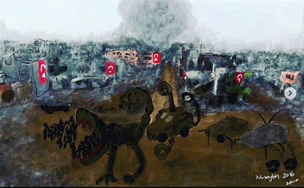 Zehra Dogan artwork