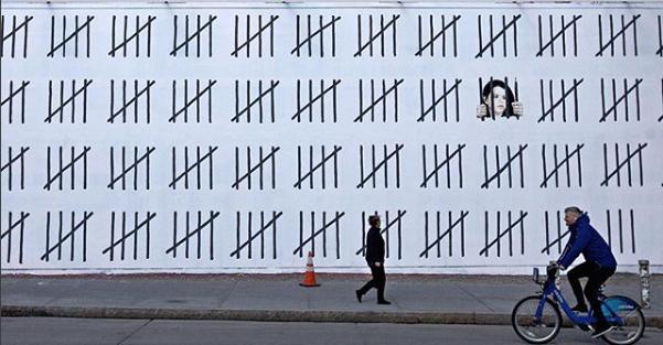 Banksy - Free Zehra Dogan (Image from Banksy's Instagram)