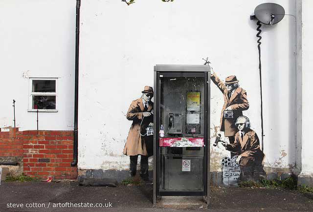 Banksy Cheltenham Surveillance spies