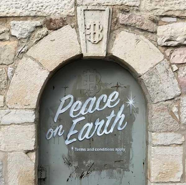 Banksy Bethlehem doorway