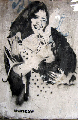 Banksy girl with rat
