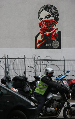Zapatista Woman, Clerkenwell Road - Shepard Fairey