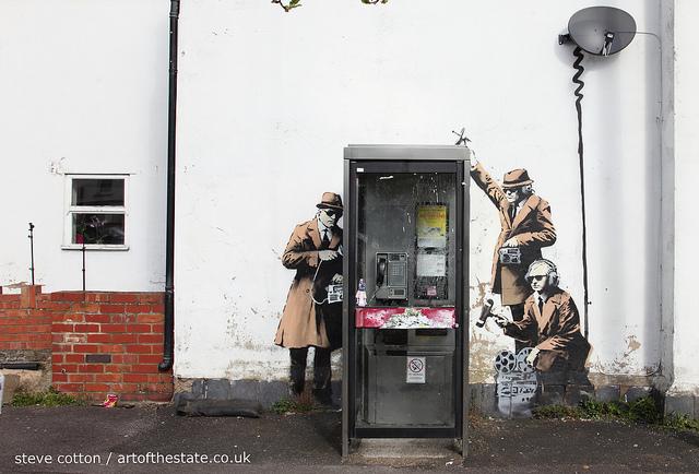 Banksy - Cheltenham surveillance