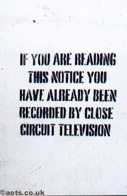 Banksy CCTV notice
