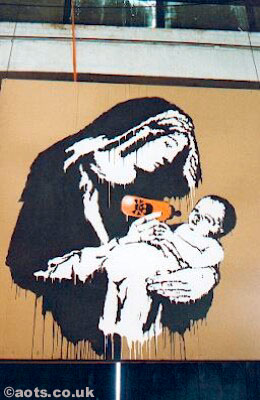 Banksy 'Virgin Mary' Stencil