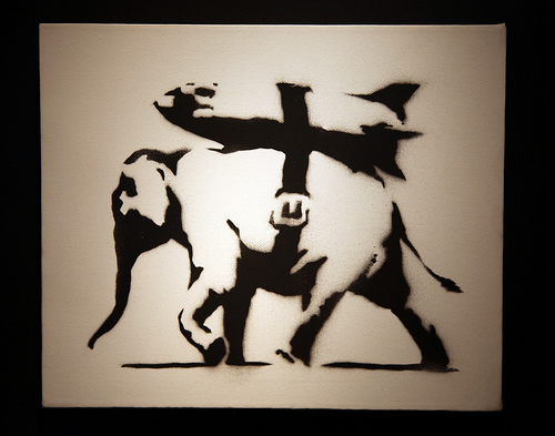 Banksy - Heavy Weaponry canvas