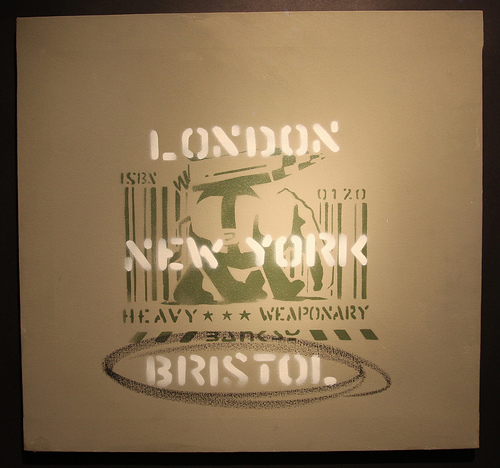 Banksy - London, New York, Bristol canvas