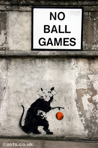 Banksy rat No Ball Games