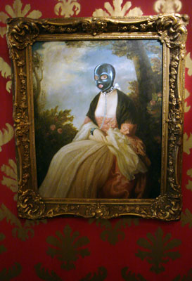 Banksy Barely Legal LA doctored oil painting