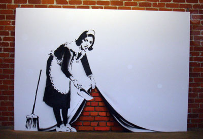 banksy Maid canvas, LA