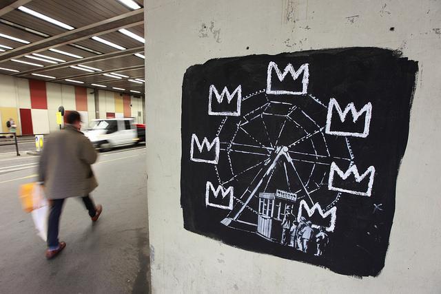 Banksy Basquiat Ferris wheel