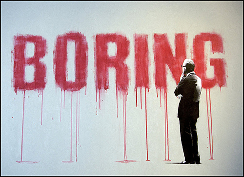 Banksy Boring canvas