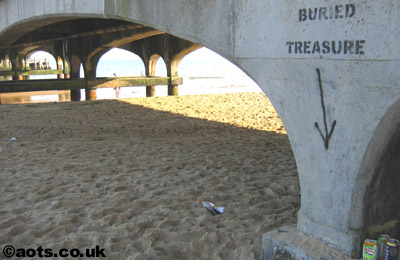 Banksy buried treasure, Bournemouth pier