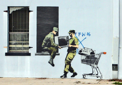 Banksy - Looters, New Orleans
