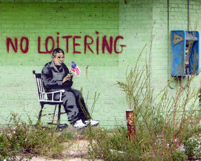 Banksy - No loitering, New Orleans