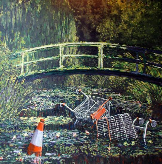 Banksy Monet Water Lilies