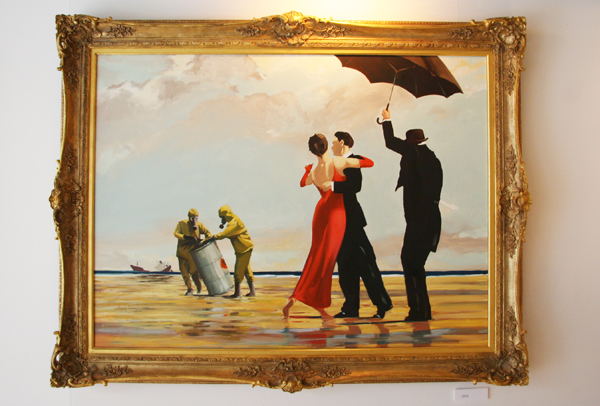 Banksy - Crude Oils modified painting