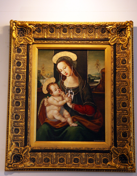 Banksy - Madonna with child