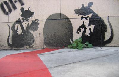 Banksy dining rats