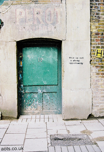 Banksy This is not a photo opportunity Doorway - South Bank, London