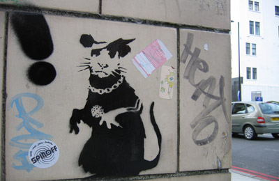 Banksy Moorfields Eye Hospital rat