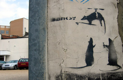 Banksy Flying Rats