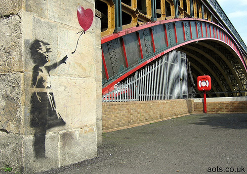 Banksy Girl with Heart Balloon