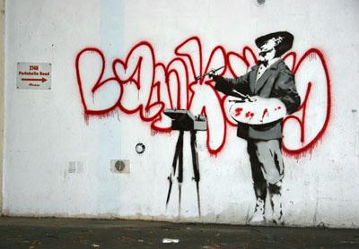 Banksy artist painter Ladbroke grove