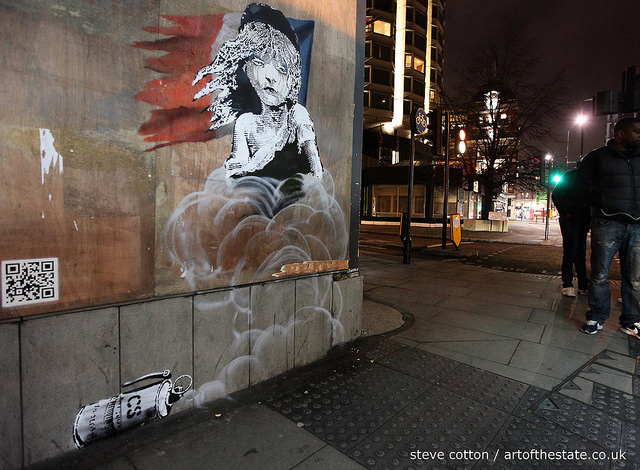 Banksy Les Miserables, Knightsbridge