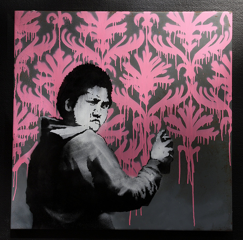 Banksy - Go Flock Yourself painting