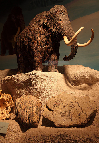 Caveman Rock Art : Banksy caveman rock