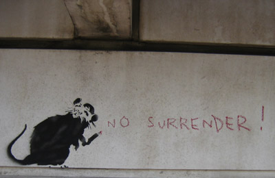 "Banksy ""No Surrender"""