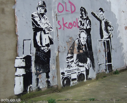 Banksy Old Skool Graffiti