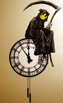 Banksy grin reaper print