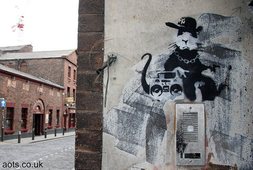 Banksy rat Liverpool