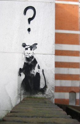 Banksy Rat - near Holloway Road