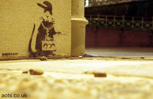 Banksy rat rapper photo