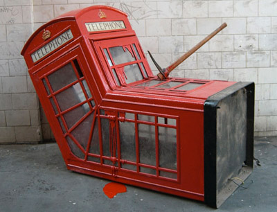 Bankys Murdered Phone Booth