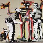 Banksy street workl