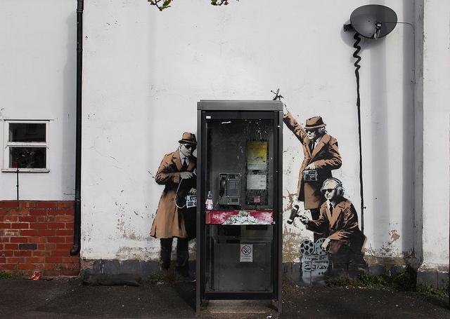 Banksy surveillance piece