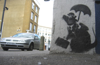 Banksy Rat with VW