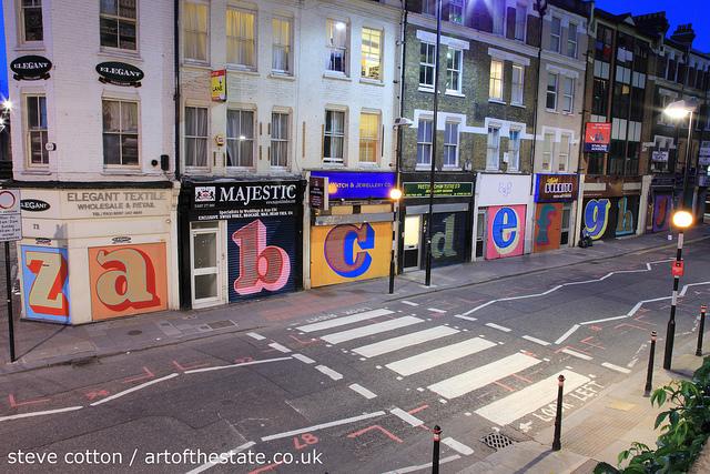 Ben Eine Alphabet Street