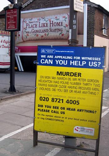 Murder incident board